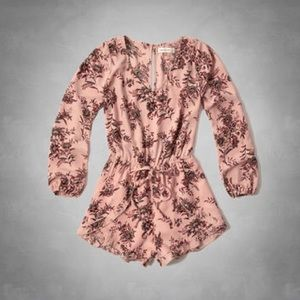 Abercrombie and Fitch pink floral romper.